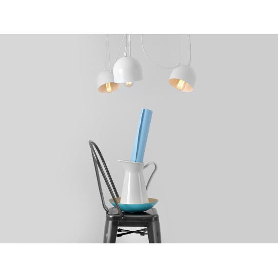 Nowoczesna lampa wisząca Popo 4 kolor biały 01