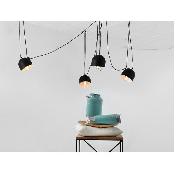 Industrialna lampa do salonu lampa pająk Popo 4 Custoform 01