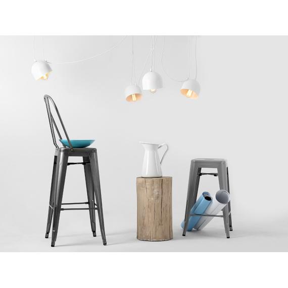 Nowoczesna lampa wisząca Popo 4 kolor biały 02