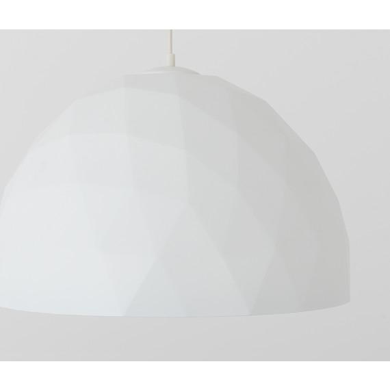 Elegancka lampa wisząca Leonard L złoto-biała 03