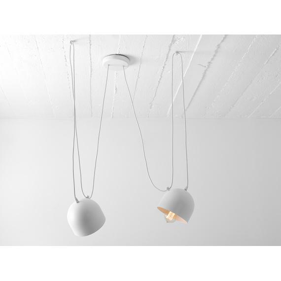 Nowoczesna lampa wisząca do salonu Popo 2 w kolorze białym 03