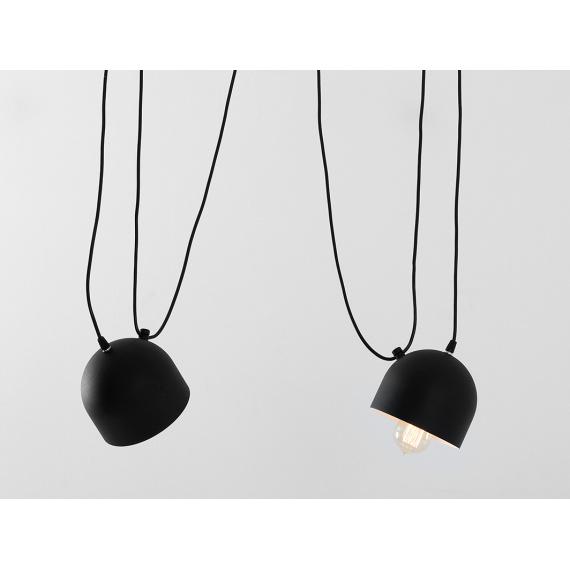 Nowoczesna lampa wisząca do salonu Popo 2 kolor czarny 03