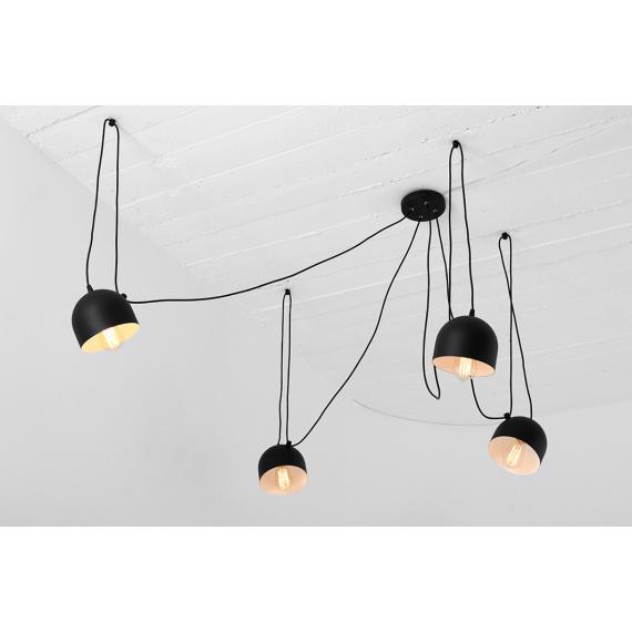 Industrialna lampa do salonu lampa pająk Popo 4 Custoform 03