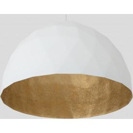 Elegancka lampa wisząca Leonard L złoto-biała 04