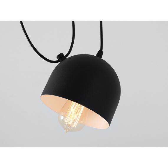 Nowoczesna lampa wisząca do salonu Popo 2 kolor czarny 04