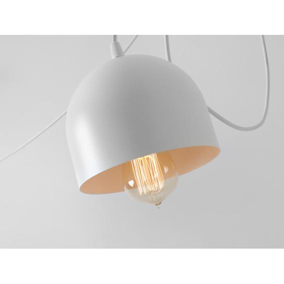 Nowoczesna lampa wisząca Popo 4 kolor biały 04