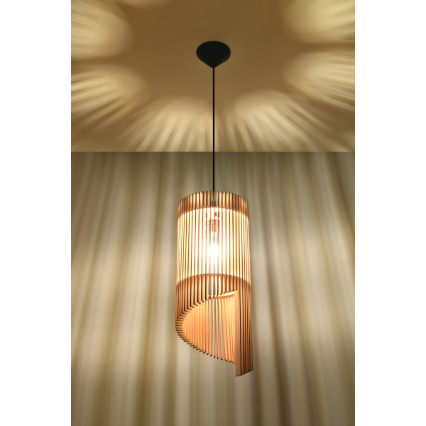 Lampa wisząca Alexia naturalne drewno 02