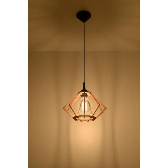 Drewniana lampa wisząca Pompelmo 01