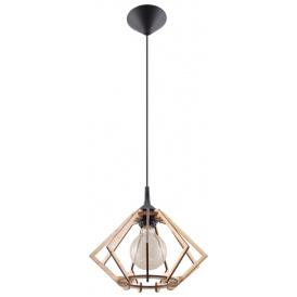 Drewniana lampa wisząca Pompelmo