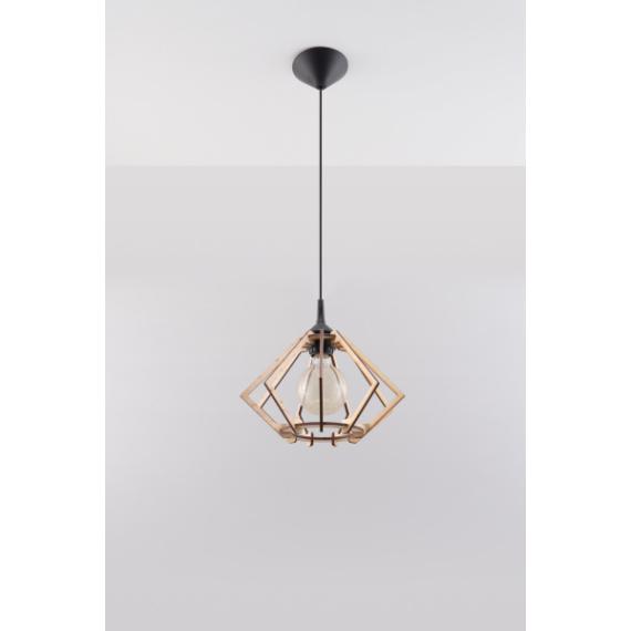 Drewniana lampa wisząca Pompelmo 03