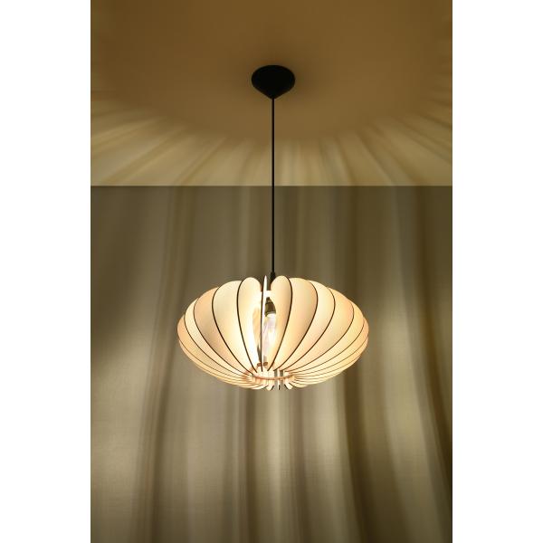 Lampa wisząca Sophia naturalne drewno 02