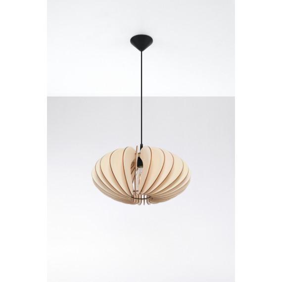 Lampa wisząca Sophia naturalne drewno 01