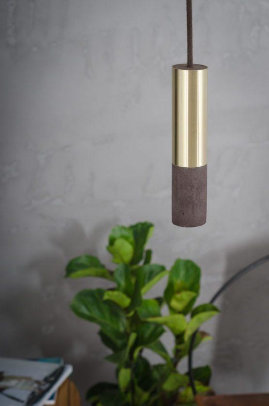 Lampa betonowa Kalla 23 Brass