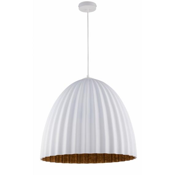 Nowoczesna lampa wisząca Telma 50 cmbiały - miedziany