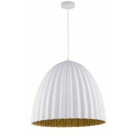 Nowoczesna lampa wisząca Telma M biały i złoty