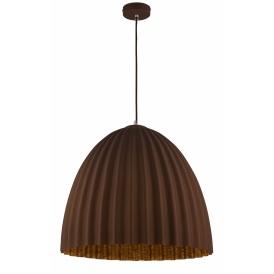 Nowoczesna lampa wisząca na stół Telma M brązowy-miedź