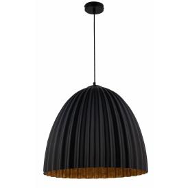Lampa wisząca do salonu Telma M kolor czarny-miedź