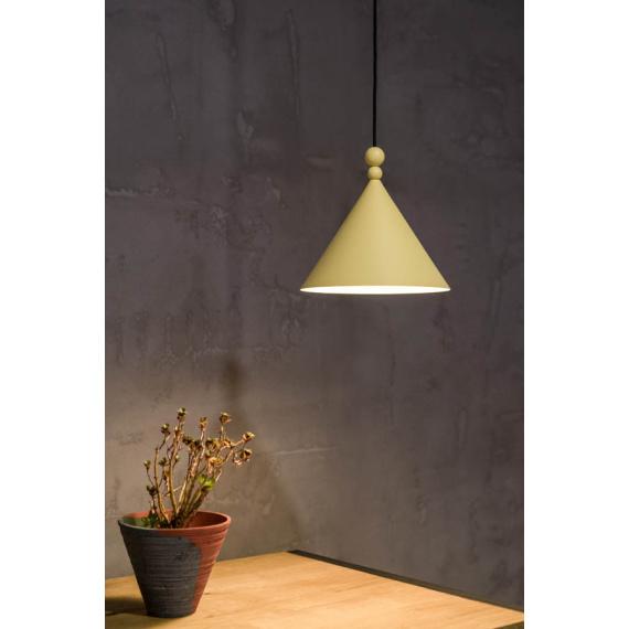 Lampa wisząca Konko - rozmiar 30cm - kolor Bamboo Yellow