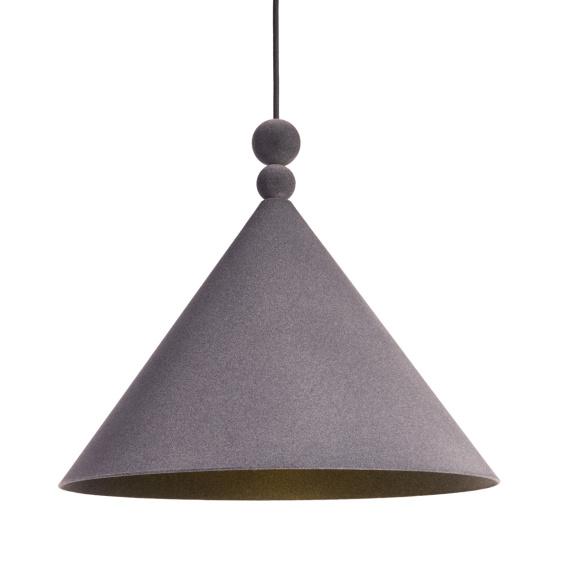 Nowoczesna lampa wisząca Konko Velvet Anthracite 04