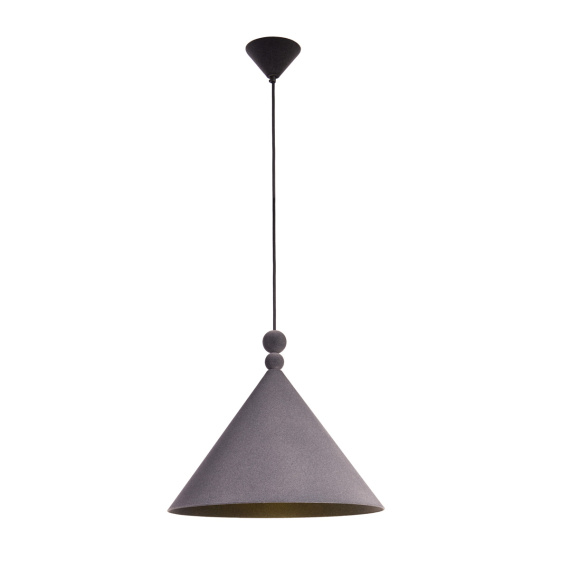 Nowoczesna lampa wisząca Konko Velvet Anthracite 03