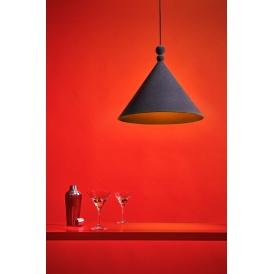 Nowoczesna lampa wisząca Konko Velvet Anthracite