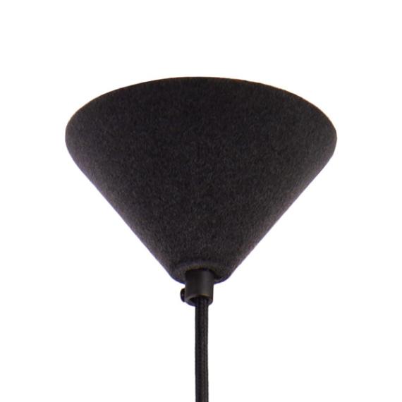 Lampa Konko Velvet LOFTLIGT - pokryta zamszem w kolorze Anthracite - podsufitka