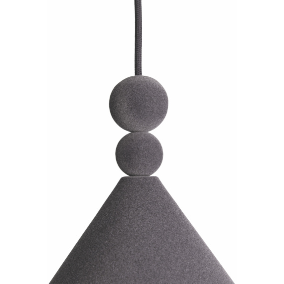Nowoczesna lampa wisząca Konko Velvet Anthracite 01