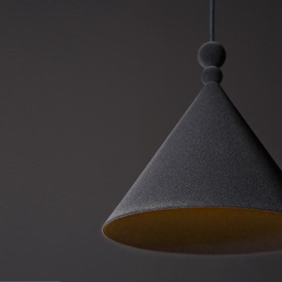Nowoczesna lampa wisząca Konko Velvet Anthracite 05
