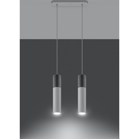 Nowoczesna lampa wisząca Borgio 2 biały