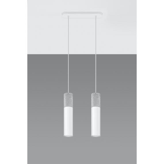 Nowoczesna lampa wisząca Borgio 2 biały 01