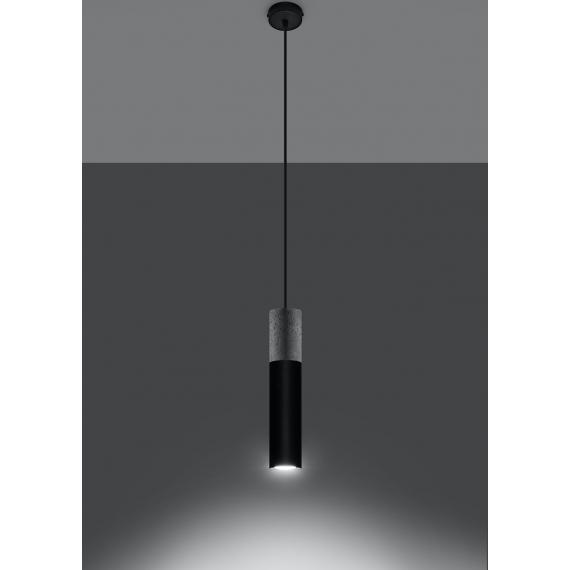 Lampa wisząca do sypialni Borgio 1 czarny beton 02