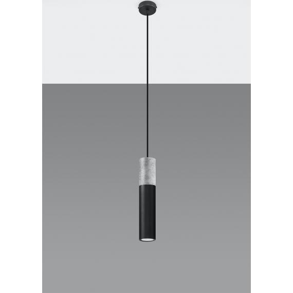 Lampa wisząca do sypialni Borgio 1 czarny beton 03