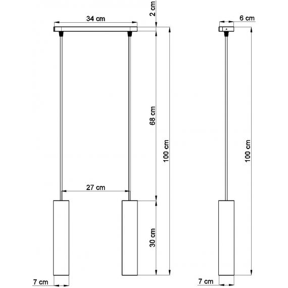 Lampa wisząca z betonu Luvo 2 01