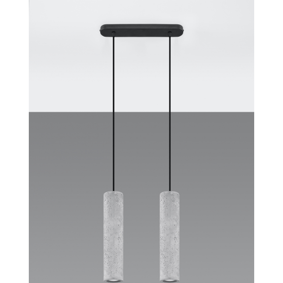Lampa wisząca z betonu Luvo 2 02