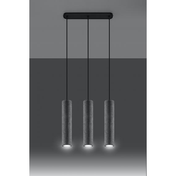 Betonowa lampa wisząca Luvo 3 01