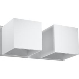Nowoczesne kinkiety do salonu - Quad 2 biały