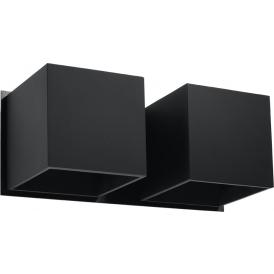Kinkiet industrialny - Quad 2 czarny