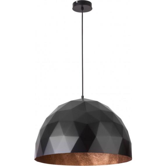 Lampa wisząca DIAMENT L CZARNY/MIEDZIANY duża