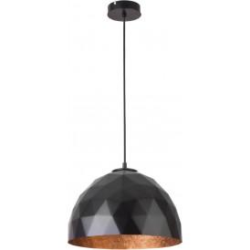 Lampa wisząca DIAMENT czarny miedziany