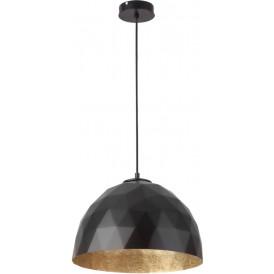 Lampa wisząca DIAMENT czarny złoty