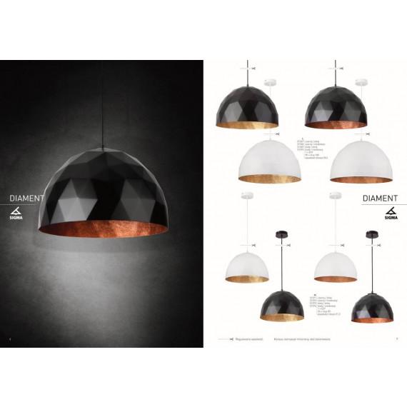 Kolekcja nowoczesnych lamp wiszących Diament