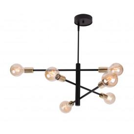 Lampa sufitowa żyrandol ONYX 6 CZARNY_ZŁOTY