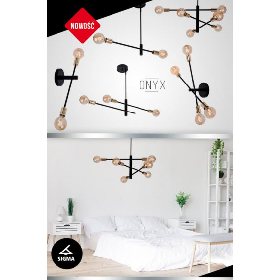 Lampa sufitowa plafon żyrandol seria ONYX