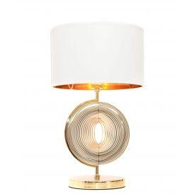 Lampa nocna Monteroni biało-złota Stołowe | Na biurko lampa stołowa