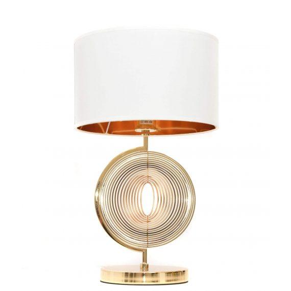 Lampa nocna Monteroni biało-złota Stołowe   Na biurko lampa stołowa