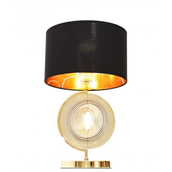 Lampa nocna Monteroni czarno-złota Stołowe   Na biurko nowoczesna lampa stołowa