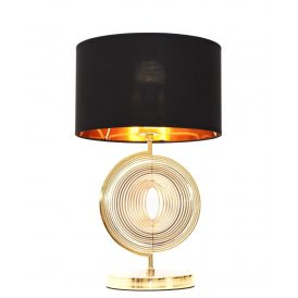 Lampa nocna Monteroni czarno-złota Stołowe | Na biurko nowoczesna lampa stołowa