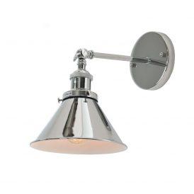 Kinkiet chromowany GUBI W1 Lampy ścienne | Kinkiety kinkiet chromowany