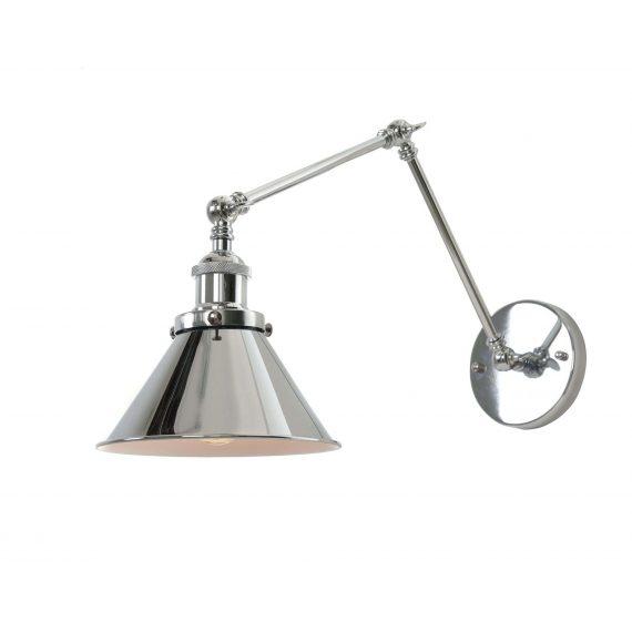 Kinkiet chromowany Gubi W2 Lampy ścienne   Kinkiety kinkiet chromowany