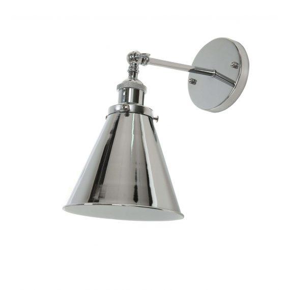 Kinkiet Rubi W1 chromowany Lampy ścienne   Kinkiety